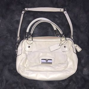 Coach Leather Cream Colored & Light Pink Satchel